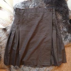 American Apparel dark grey pleated wrap skirt